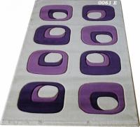 Машинни килими с десен в лилаво 100х200см