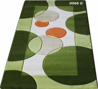 Машинни килими в зелени тонове 50х80см