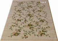 Гладък машинен килим на зелени цветя