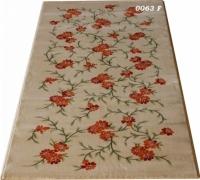 Машинен гладък килим на оранжеви цветя