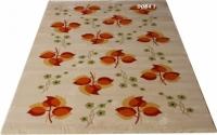 Машинен гладък килим с оранжеви листа