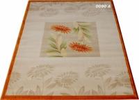 Гладък машинен килим с цветя