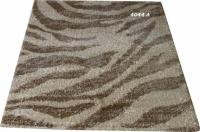 Машинен гладък килим в бежово-кафяво