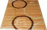 Гладък килим с апликация на кръгове
