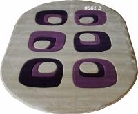 Машинен килим Мода релеф елипса в лилаво