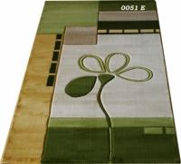Правоъгълен килим в зелено 100х200см