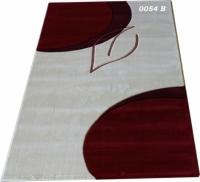 Машинни килими в сиво и червено 100х200см