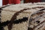 Машинни килими Шаги в бежево-кафявата, оранжевата, червената и зелената гама 80/150